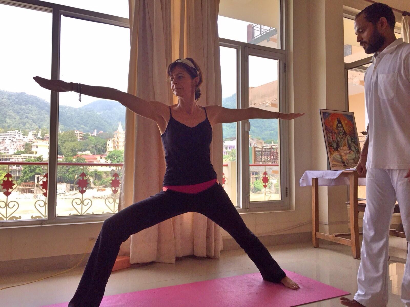 Katia Professeure de Yoga certifiée en Inde
